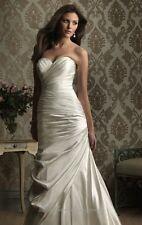 Allure Satin Wedding Dress Style 8861, size 22 (fits 14-16)