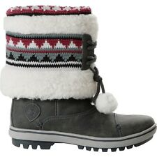 Helly Hansen HH Iskoras Grey & Two Tone Pom Poms Women's Snow Boots UK 6.5