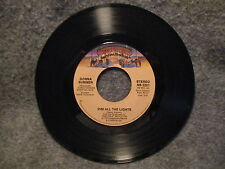 "45 RPM 7"" Record Donna Summer Dim All The Lights & There Will Always Be NB 2201"