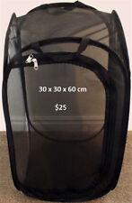 Black Pop-up Insect Cage Medium 30 x 30 x 60cm
