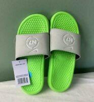 Men's Nike Benassi N7 Sandals Beach Slides NWT Grey Green CV0267-001 Size 10