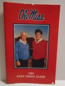 Vintage 1989 Ole Miss Rebels Golf Media Guide