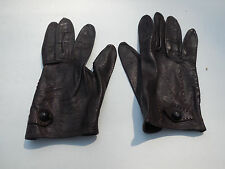 DESIGNER LADIES DARK BROWN LEATHER GLOVES UNLINED SIZE 6.5
