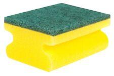 More details for 32 handgrip sponge scourers washing up scrubber dish cleaning scourer long last