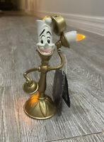 "2021 Disney Parks Beauty & The Beast Lumiere Light Up Figurine 8"" New"