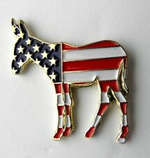 DEMOCRAT PARTY DONKEY EMBLEM *NEW* UNITED STATES LOGO PIN BADGE 1 inch