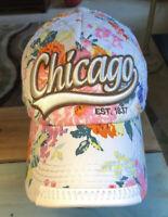 Robin Ruth Chicago Hat All Over Floral Cap Logo Script Flowers Baseball Trucker
