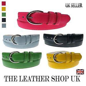 Neu Bunt Mode Quality PVC Damen Riemen Für Jeanshose UK Verkäufer