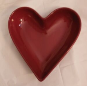 PAMPERED CHEF Simple Additions Heart Dish Bowl Red