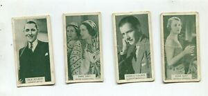 4 cigarette cards State Express   British Born Film Stars