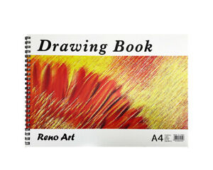 A4 Size 30 Sheets Drawing Book Artist Hard Cover Sketch Paper Sketchbook Reno