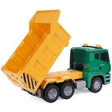 Us Stock 1/18 5Ch Remote Control Rc Construction Dump Truck Kids Large Toy