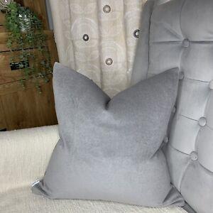 "Scatter Cushion Cover 18"" John Lewis & Partners Fabric Cotton Velvet GREY Dove"