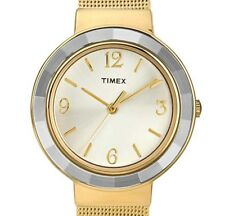 NEW $91.87 Timex Ladies Gold Tone Quartz Analog  Classic Stainless Watch T2P197