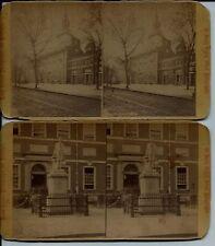 2 James Cremer 1880s Philadelphia Independence Hall Real Photo Stereoviews