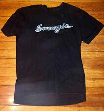 Energie Brand Men's T-Shirt Black/Blue Medium but runs small