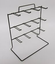 New 3 Tier 12 OSHA Loop Peg Hook Key Chain Counter Top Black Display Rack