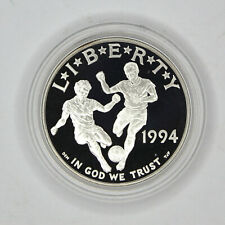 1994-S World Cup Proof 90% $1 Silver Dollar Commem Coin & Capsule Only