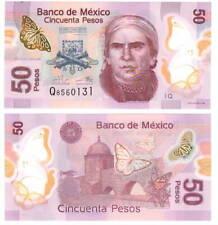 MEXICO 50 Pesos (2015) P-123Aq Q Series Q Prefix UNC POLYMER Banknote
