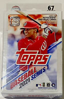 2021 Topps MLB Hanger Series 1 Box 67 Cards Factory Sealed 📈 Autograph Relic