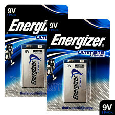 2 x Energizer Ultimate Lithium 9V batteries L522 E-Block MN1604 LR22 EXP:2026