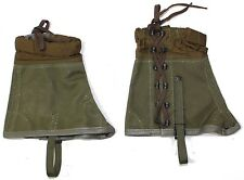 ITALY ITALIAN ARMY STYLE LEG GAITERS IN OLIVE GREEN