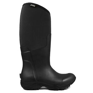 Bogs Womens Wellies Essential Light Tall Solid Wellington Boot Black