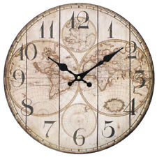 World Map Clock (Vintage-look)- (Beautiful)~ New in packaging (Great Gift!)~