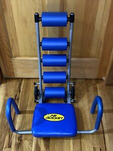 Ab Rocket Abdominal Trainer Core Strengthening Home Gym Workout Genuine Blue