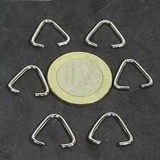 82 Hufe Stahl 14x1,7mm T19X Für Schlüsselanhänger Key Ring Stahl Hook Doppel-