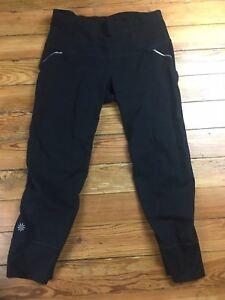 Athleta Size Xs Black Capris Yoga Workout Athletic Pants