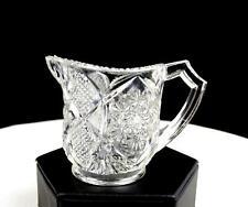 "CAMBRIDGE GLASS #2635 EAPG FERNLAND PATTERN GLASS 2 3/8"" CHILD'S CREAMER 1906"