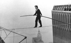 POSTER MAN ON WIRE FILM DOCUMENTARY PHILIPPE PETIT LOCANDINA CINEMA MOVIE #1