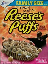 NEW TRAVIS SCOTT'S REESES PUFFS CEREAL 20.7 OZ BOX SPECIAL EDITION CACTUS JACK