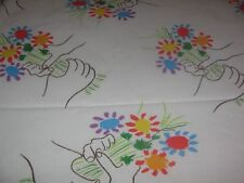 VINTAGE PACIFIC 1970'S MODERN PICASSO BOUQUET OF PEACE SHEETS TW FLAT FL FITTED