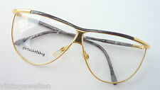 Safilo  Brillenfassung Metall-Acetat gold-grau Rarität XXL Form 70er  size L