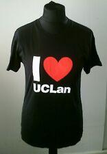 I Love UCLan University Heart Uni T-shirt Top Black White One Size Unisex