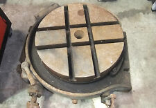 """Very Heavy 16"""" Rotary Table for Milling Machine, For Restoration."""