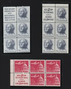 USA MNH LOT / COLLECTION OF 3 BOOKLET PANES
