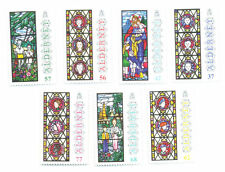 Alderney-Christmas 2015 Stained Glass Windows-mnh set