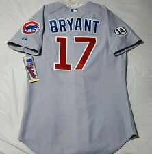 MAJESTIC Authentic SIZE 52 2XL Chicago Cubs ROAD GRAY KRIS BRYANT Jersey