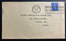 1959 Stoke On Trent England Cover to London Canada British Industries Cancel