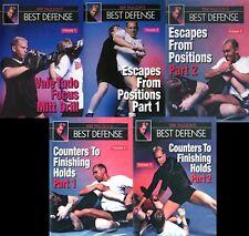 Erik Paulson Best Defense 5 Dvd Set shoot wrestling Mma bjj judo vale tudo