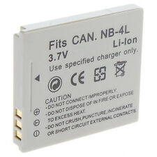 BATTERY pack FOR CANNON NB-4L POWERSHOT SD750/SD600 SD630 UK NB-4L IXUS220 HS