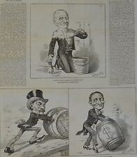 NY Daily Graphic. Rolling up the Majorities. 1876.