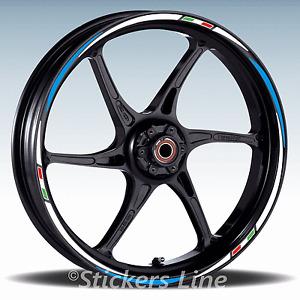 Adesivi ruote moto strisce cerchi per BMW R 1200 R stickers wheel R1200R Racing3
