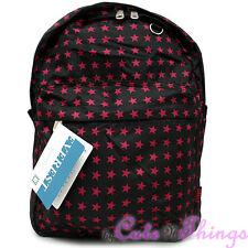 """Pink Black Stars Shcool Backpack School Bag 16"""" Everest All Over Print Book Bag"""