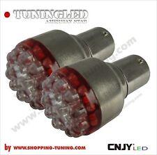 2 ampoule 19 led Rouge,feux stop/veilleuse P21/5W Bay15d