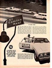1968 CHEVROLET EL CAMINO 396/350 HP ~ ORIGINAL 5-PAGE ROAD TEST / ARTICLE / AD