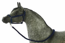 Model Horse Halter and Lead Rope Dark Blue. Fits Traditional Sized Breyer
